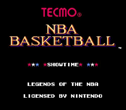 Screenshot for Tecmo Legends of NBA Basketball