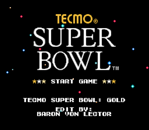 Screenshot for Tecmo Super Bowl: Gold