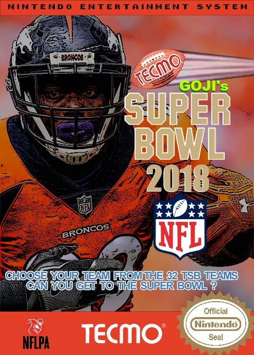 Goji's Tecmo Super Bowl NFL 2018 (11.8)