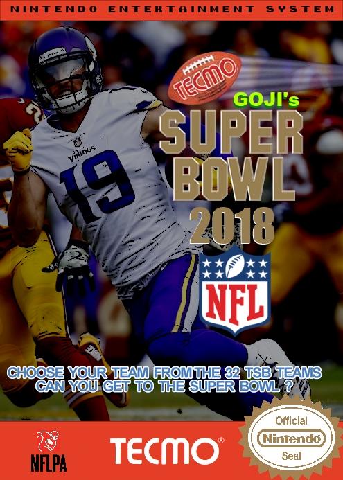 Goji's Tecmo Super Bowl NFL 2018 (Week 11 Version 2.0)