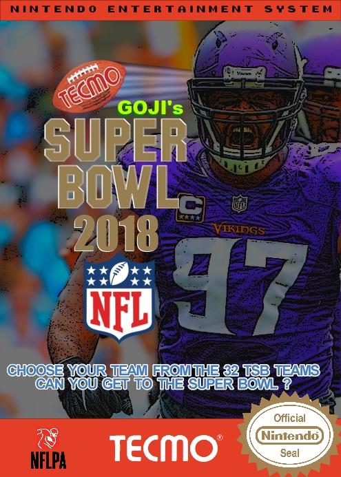 Goji's Tecmo Super Bowl NFL 2018 (Week 14 Version 3.0)