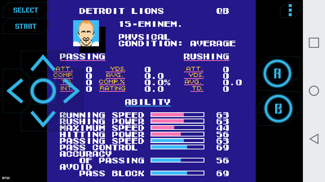 Celebrities Tecmo Super Bowl **Incomplete **