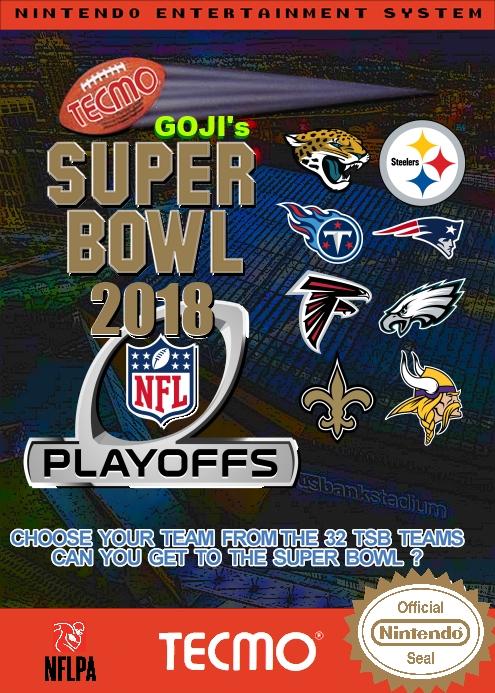 Goji's Tecmo Super Bowl NFL 2018 (Playoffs Week 2 Version 1.0)