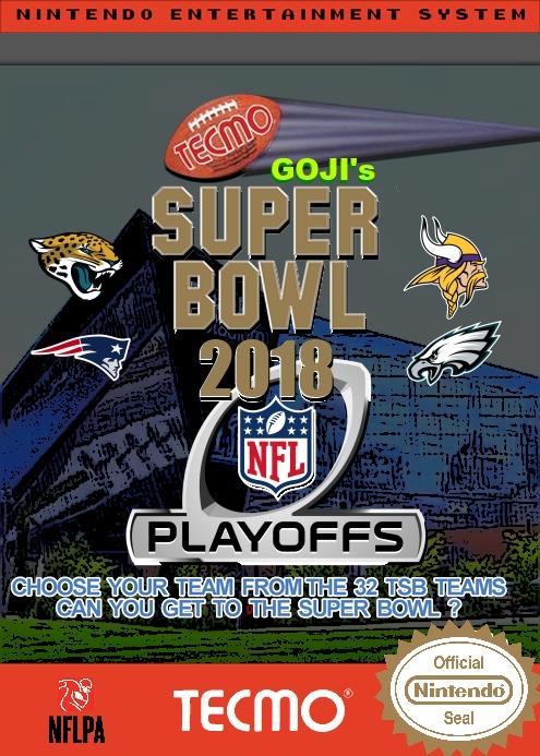Goji's Tecmo Super Bowl NFL 2018 (Playoffs Week 3 Version 1.0)