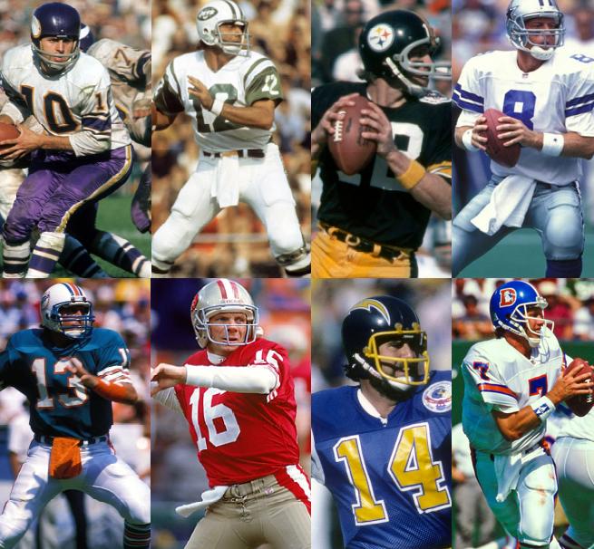 Tecmo Super Bowl 1970-1994 seasons