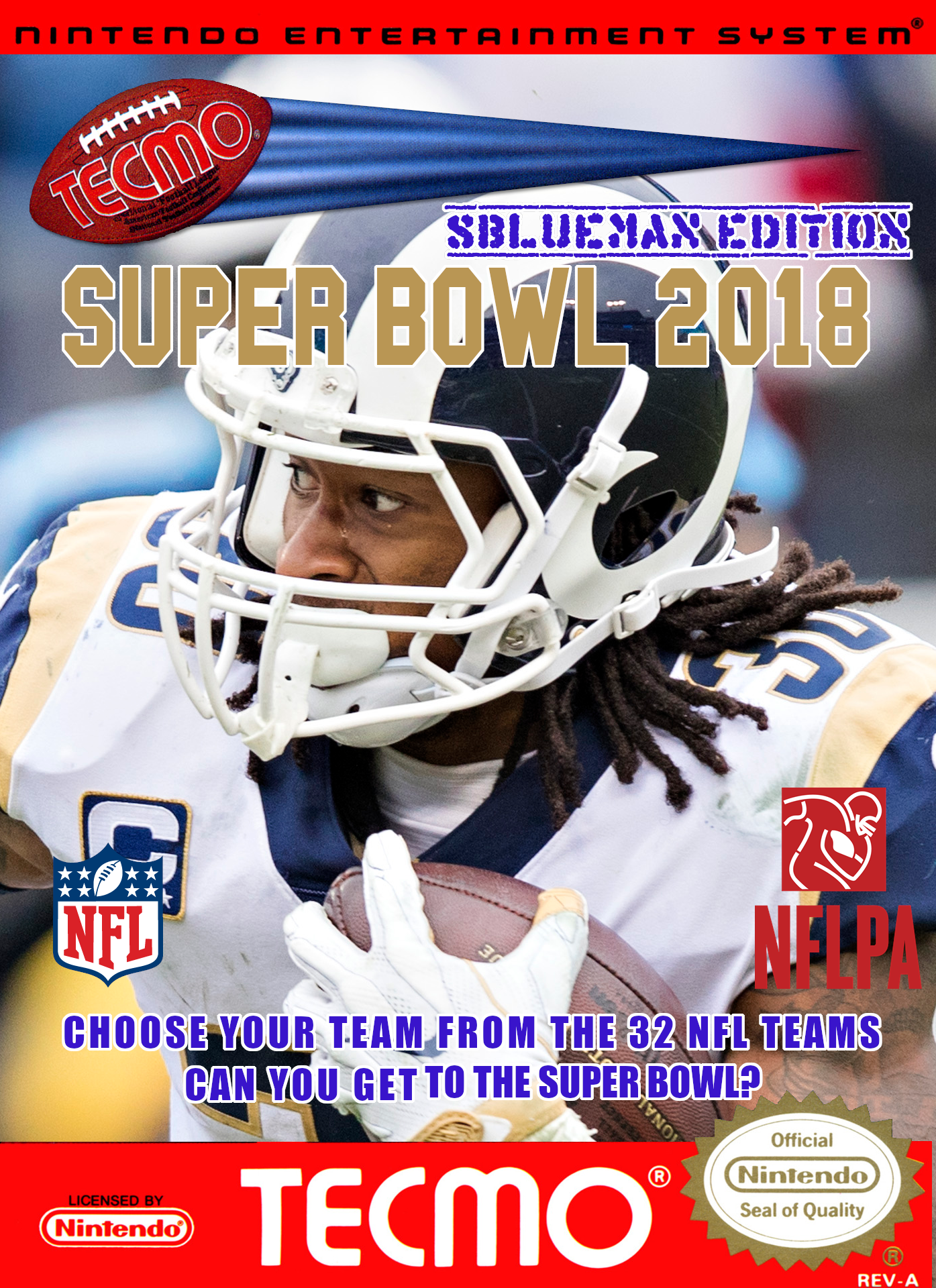 Tecmo Super Bowl 2018 - SBlueman Edition