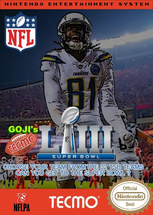Goji's NFL Tecmo Super Bowl LIII (Week 15 Version 2)