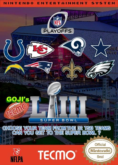 Goji's NFL Tecmo Super Bowl LIII (Playoffs Week 2 Version 2)