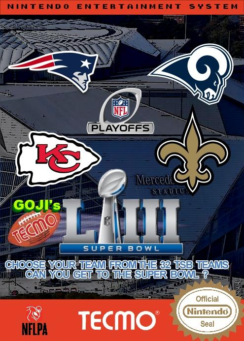 Goji's NFL Tecmo Super Bowl LIII (Playoffs Week 3 Version 2)