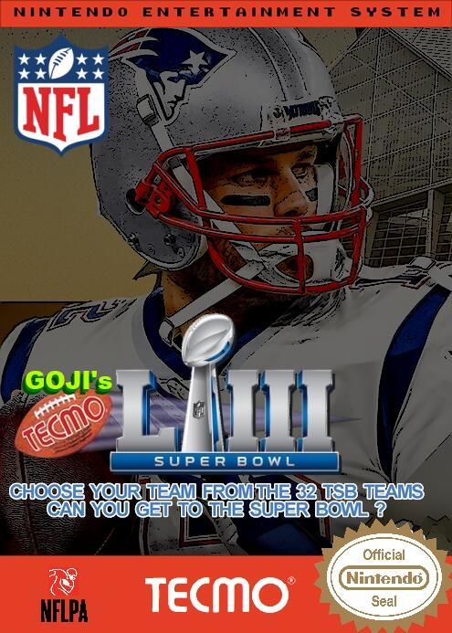 Goji's NFL Tecmo Super Bowl LIII (2.3.19)