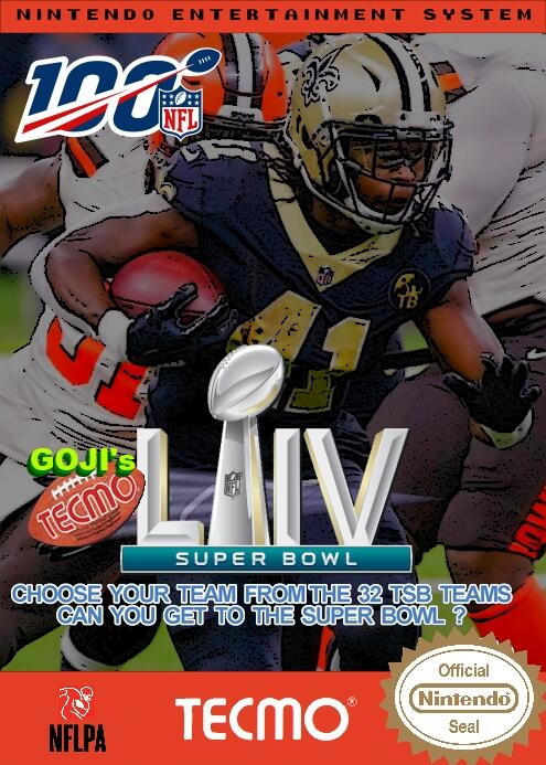 Goji's NFL Tecmo Super Bowl LIV (BETA 1.0)