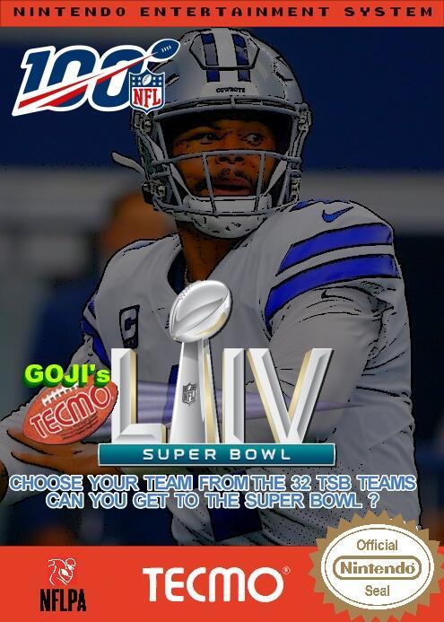 Goji's NFL Tecmo Super Bowl LIV (Week 2 Version 2)