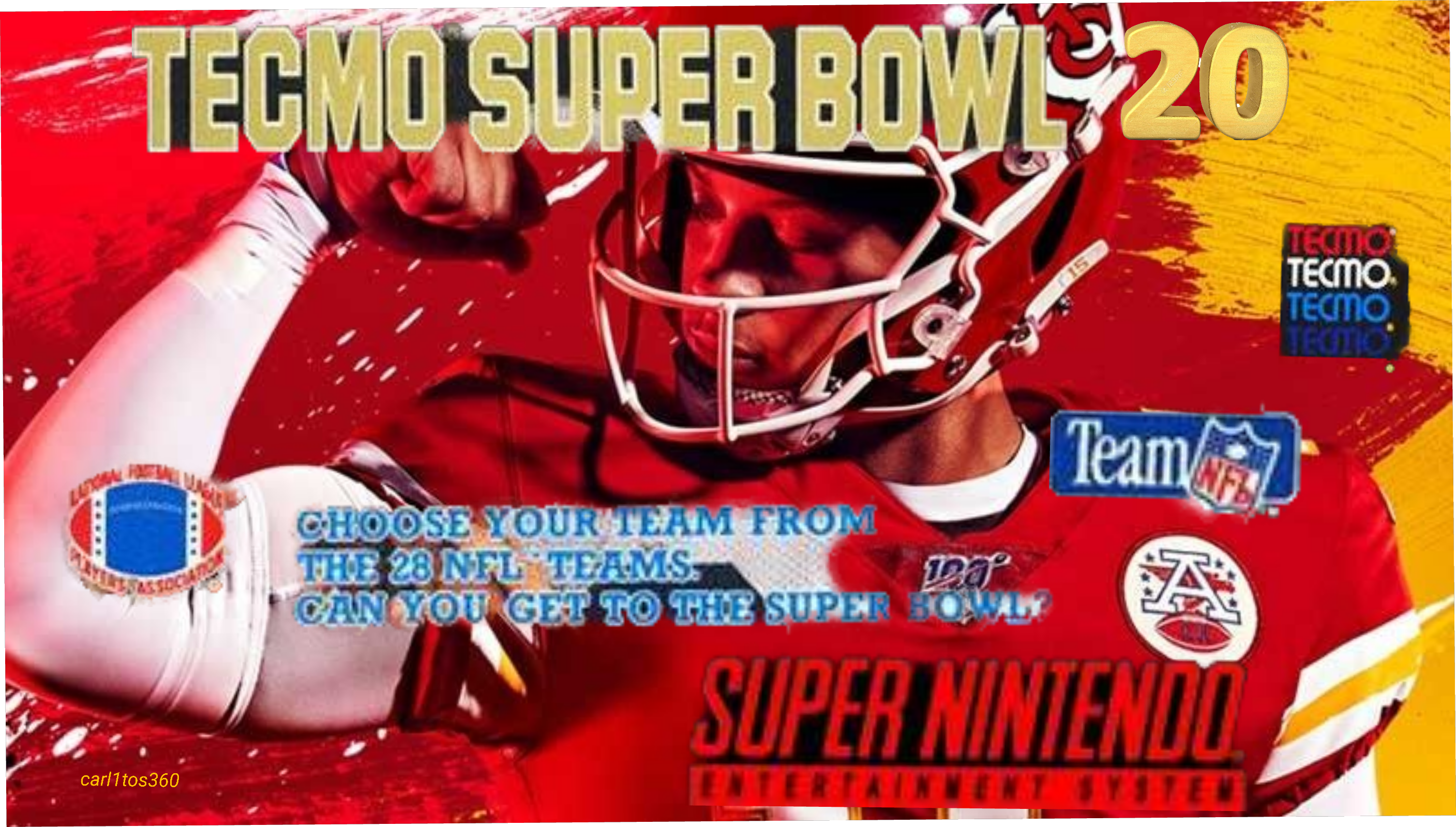 Tecmo Super Bowl1 Snes w Nes players project