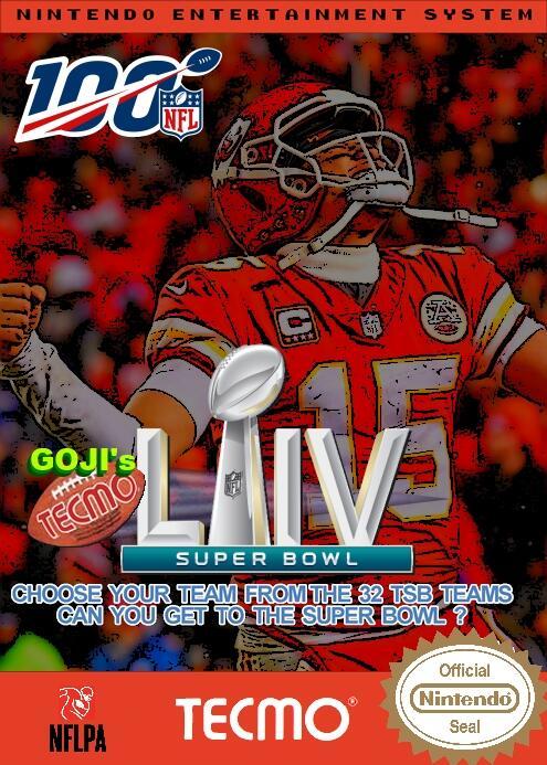 Goji's NFL Tecmo Super Bowl LIV
