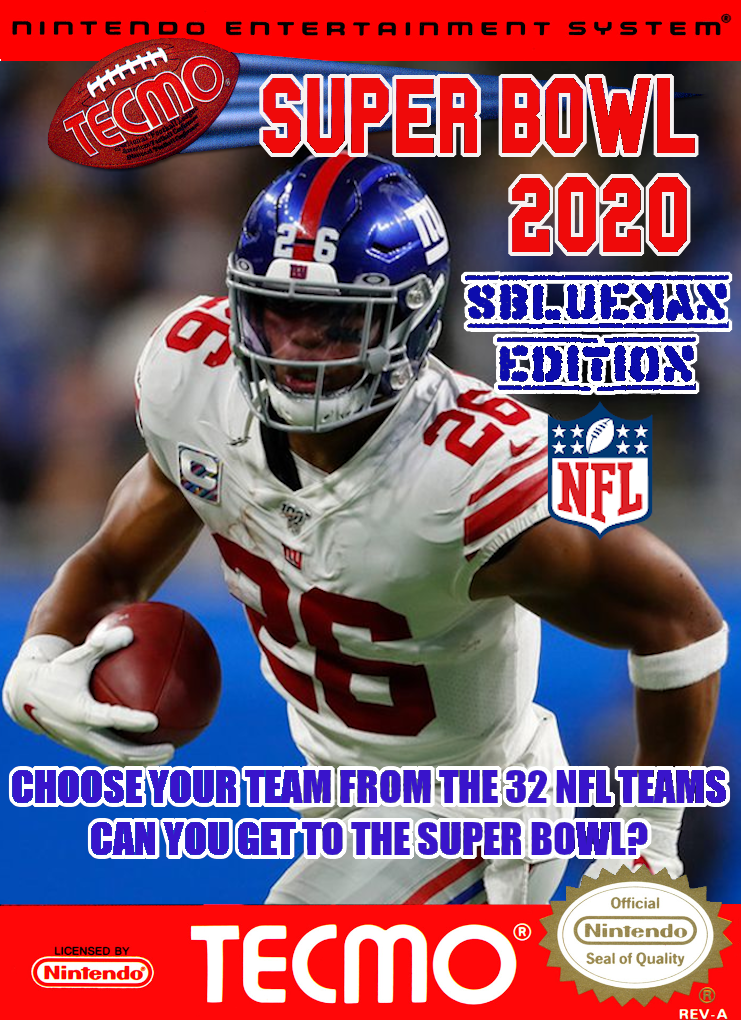 Tecmo Super Bowl 2020 - SBlueman Edition [Update 7/25/20]
