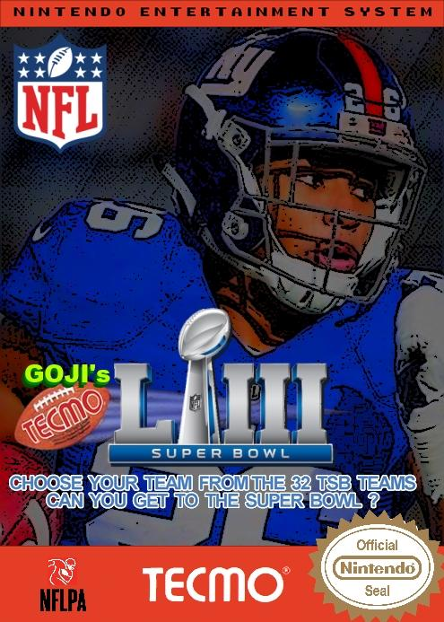 (NES) Goji's NFL Tecmo Super Bowl LIII (Week 2 Version 3)
