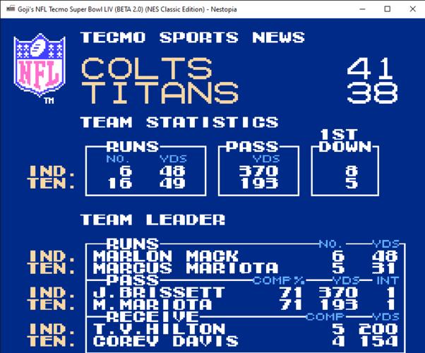 Goji's NFL Tecmo Super Bowl LIV (BETA 2.0) (NES Classic Edition) - Nestopia 8_26_2019 7_03_05 PM.png