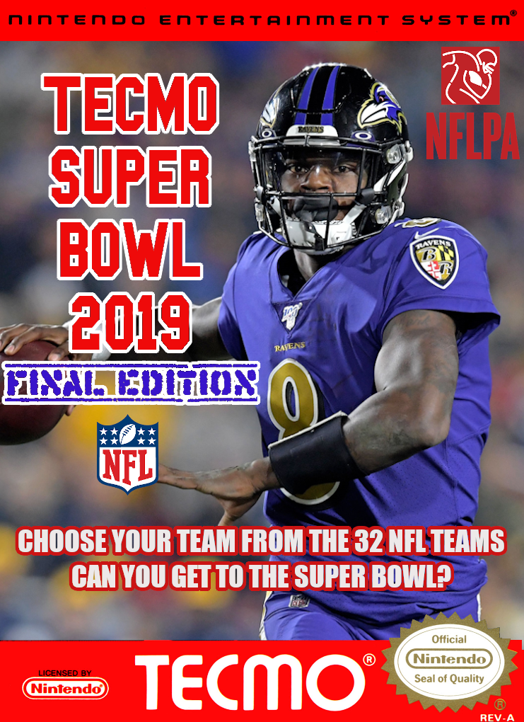 (NES) SBlueman's Tecmo Super Bowl 2019 - Final Edition